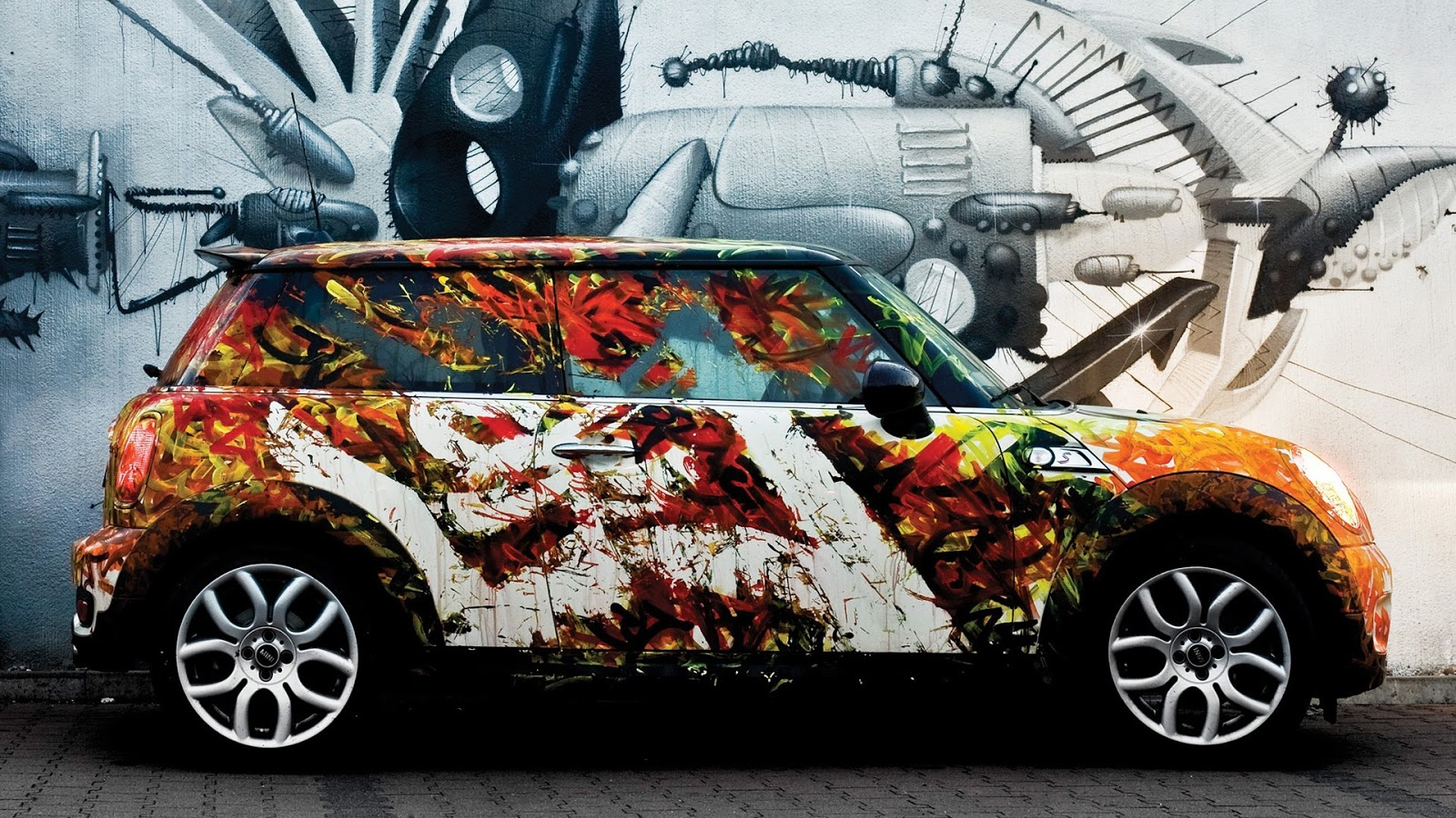 Artistic Painted Mini Car