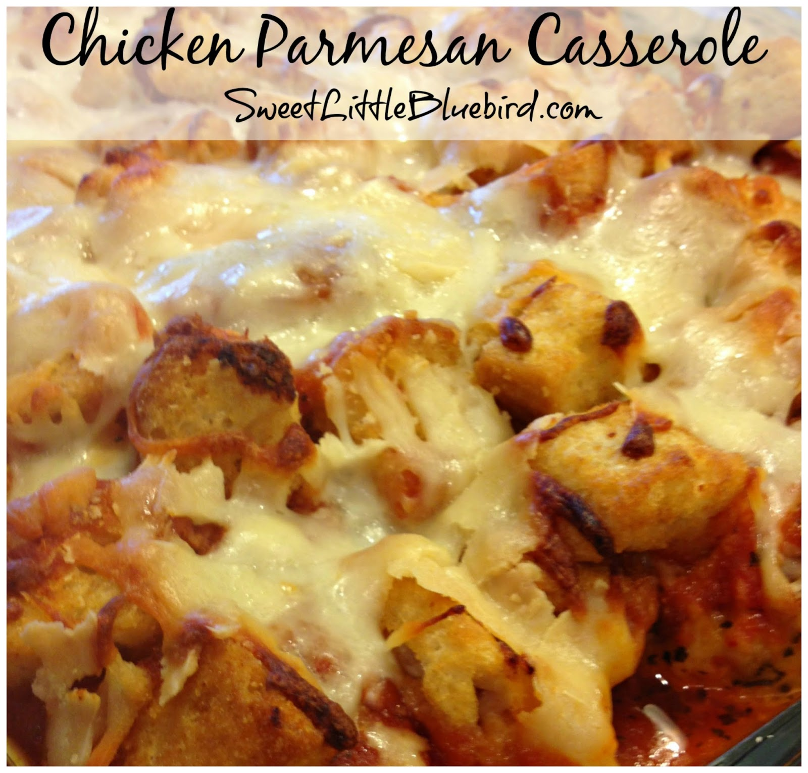 Chicken parmesan bake recipe with croutons