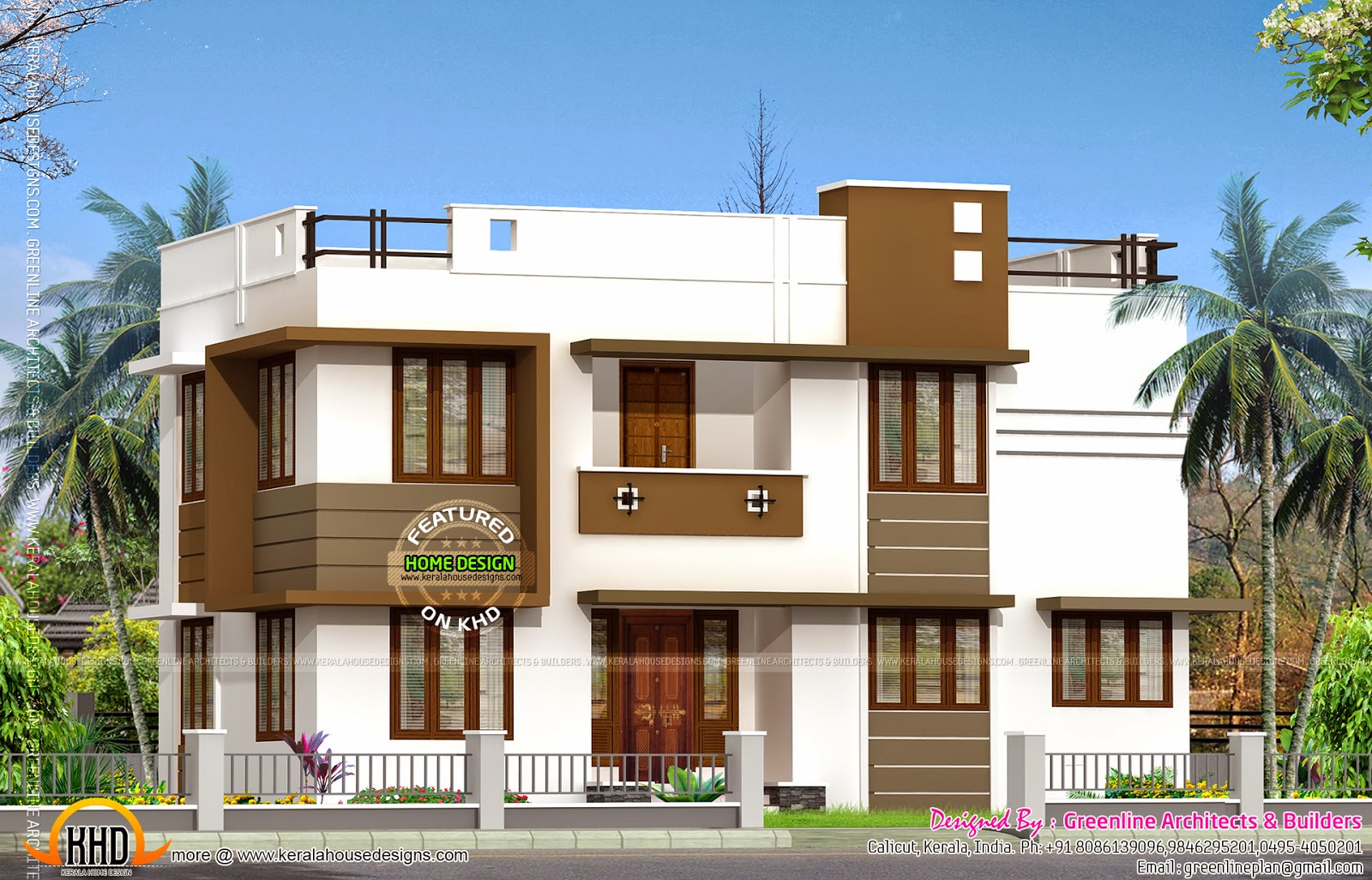 Low budget double storied house kerala home design and floor plans Low budget home design ideas