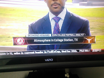 OOPS! ESPN mistakes Texas logo for Texas A M logo.