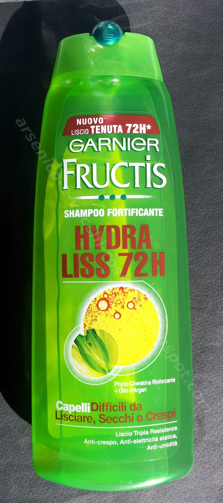 Garnier Fructis Shampoo Hydra Liss 72H per capelli secchi o crespi