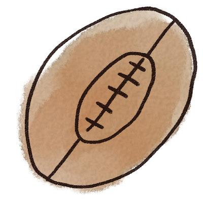 ラグビーボールのイラスト(スポーツ器具)