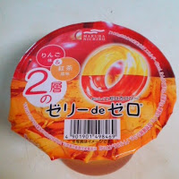 Tea and apple flavored zero calorie Japanese jelly from Family Mart