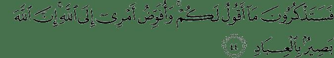 Surat Al Mu'min Ayat 44