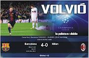 12.03.2013Con goles de Messi (´4 y ´38), Villa (´54) y Jordi Alba (´91), .