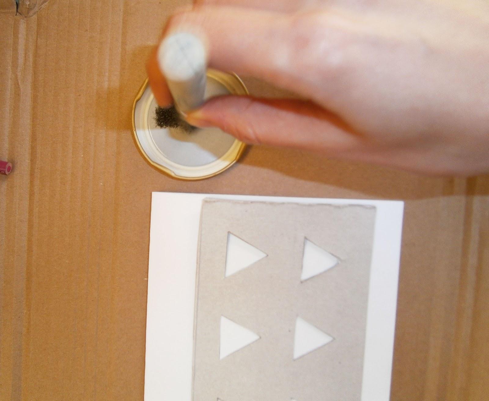how to make a cardboard stencil