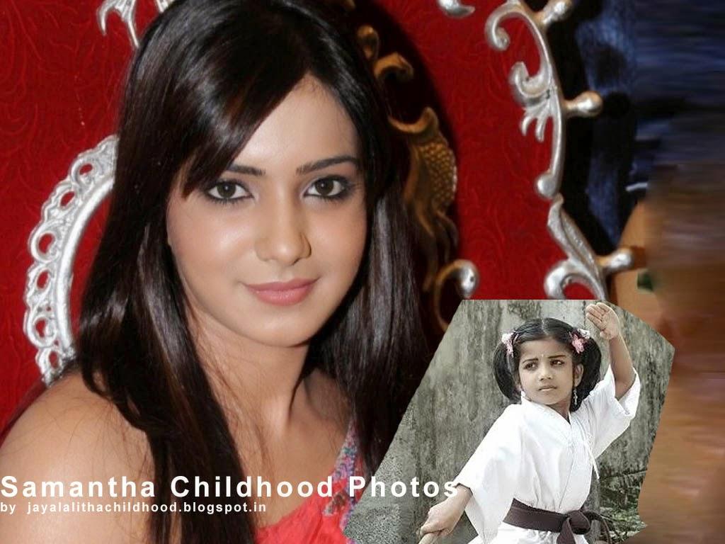 jayalalitha childhood photos: samantha childhood photos