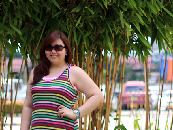 Forever 21 Rainbow Stripes Maxi Dress, Colorful Plus Size Maxi Dress, Plus Size Summer Outfit