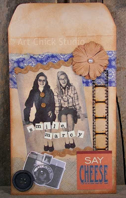 Say Cheese Altered Art