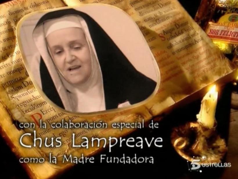La actriz Chus Lampreave en la serie 'Hermanas' como la madre fundadora