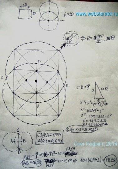 Тайна числа пи. Диагонали. Математика для блондинок.