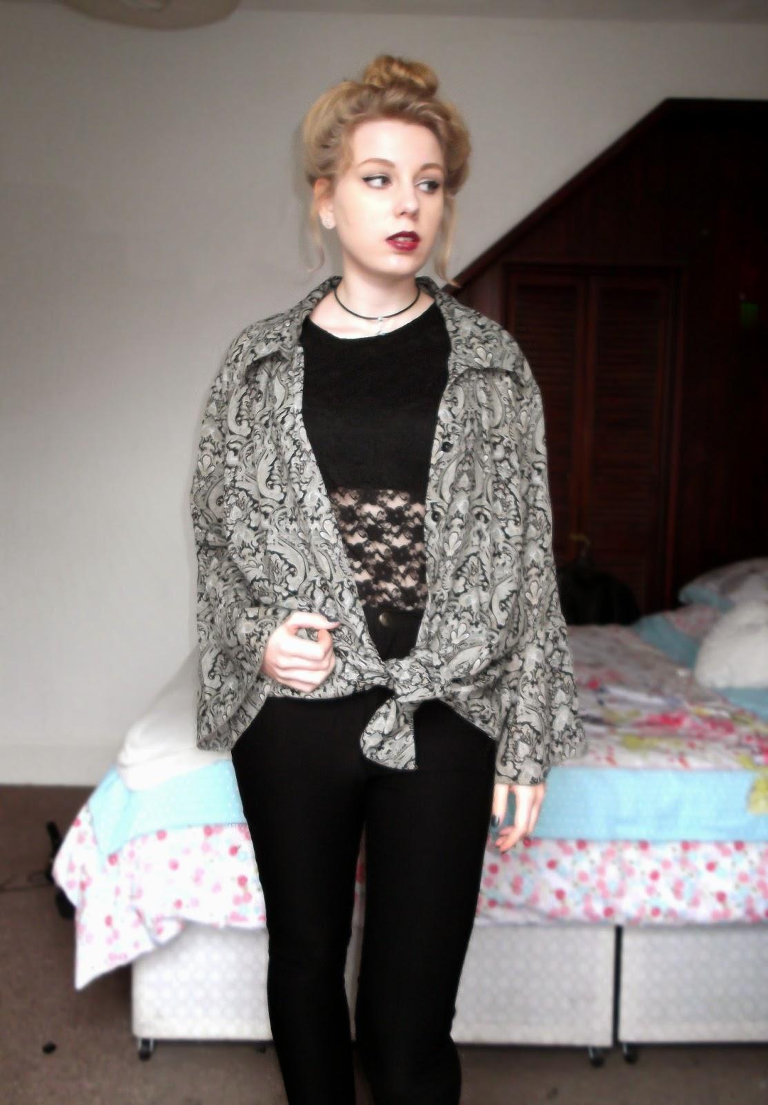 fashion, style, grunge, kimono, alternative