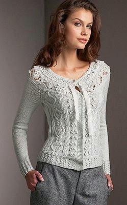 koronkowy sweter na drutach