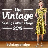 The 2015 Vintage Sewing Pattern Pledge