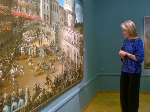 Queen Mathilde Visited The Nervia Laethem Saint Martin Exhibition