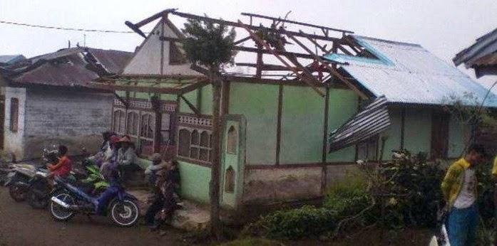 Angin Puting Beliung Kepahiang Bengkulu