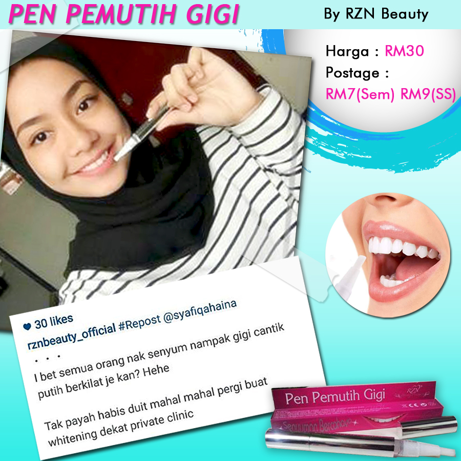 Iklan Pen Pemutih Gigi Testimoni Dan Rzn Beauty Resources Nu Smile September 09 2015 0 Comments