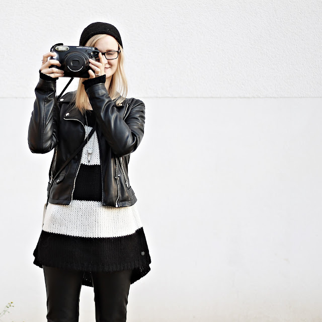 girl and polaroid camera