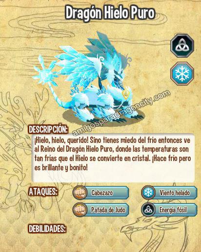 imagen del dragon hielo puro y sus caracteristicas