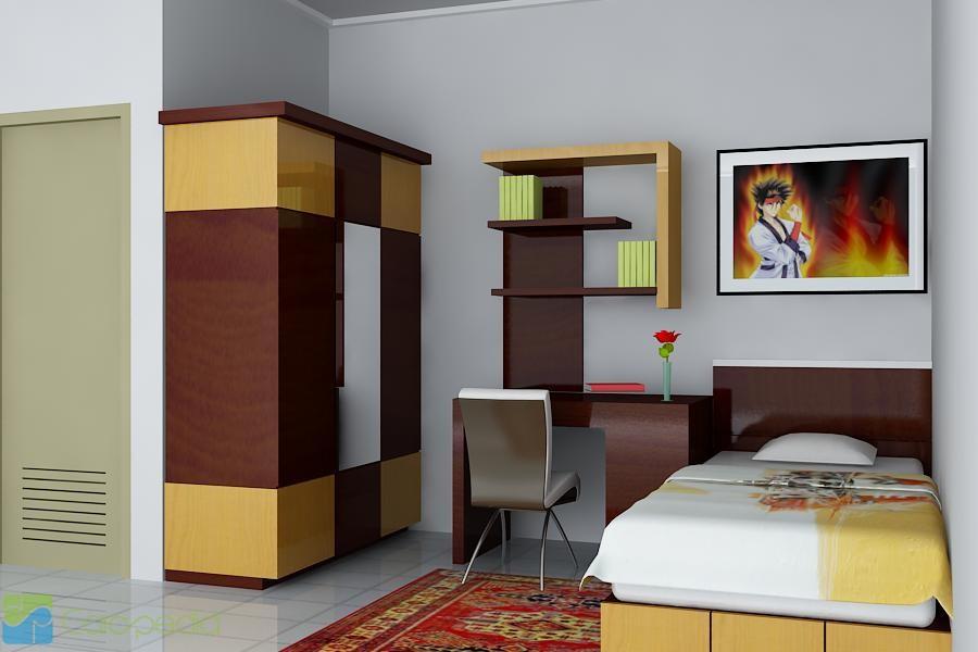 Cara Desain Kamar Kost Modern & Multi Fungsi | Desain Rumah | Tipe ...