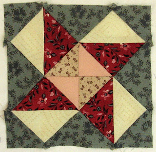 Blok 23 van 1865 passion sampler quilt