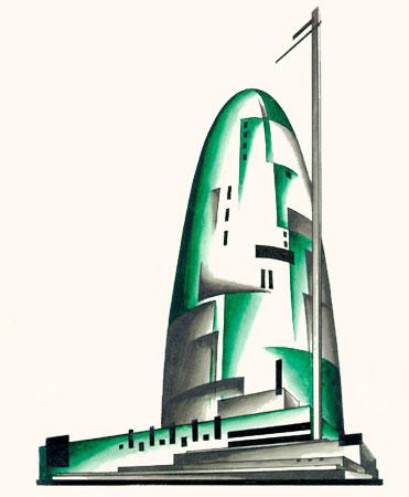 Iakov Chernikhov. Ciclos Constructivistas. «Fundamentals of Modern Architecture»  1925-1930. Doctor Ojiplatico