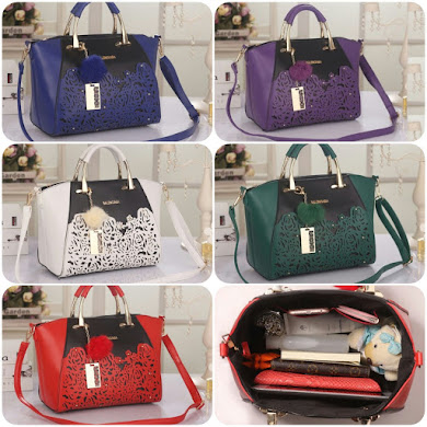BALENCIAGA BAG - BLUE , RED , PURPLE