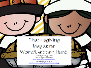 http://www.teacherspayteachers.com/Product/Thanksgiving-Magazine-Hunt-988740