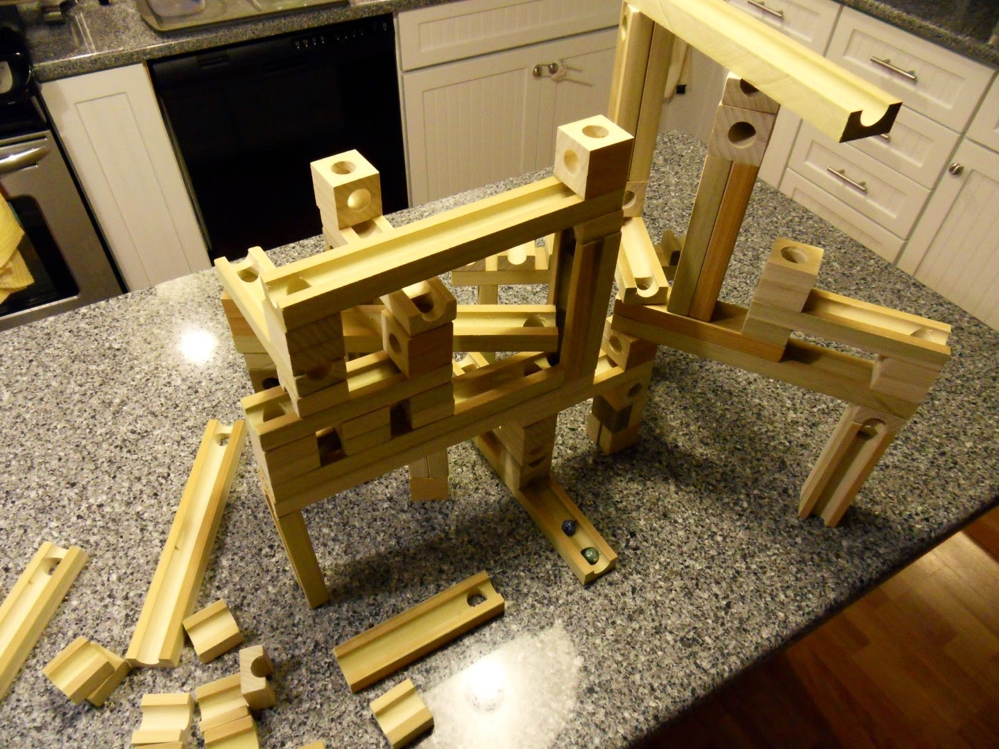 diy wood marble run game