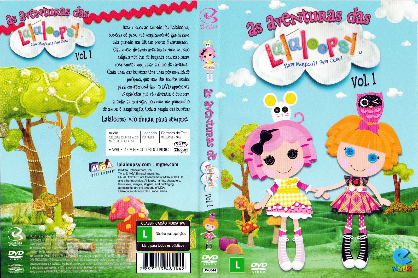 Capa DVD As Aventuras De Lalaloopsy Vol 1