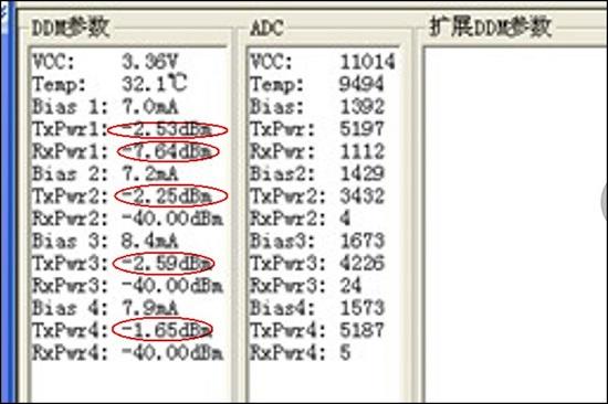 40G QSFP-SR4 GEN2 DDM TX monitor