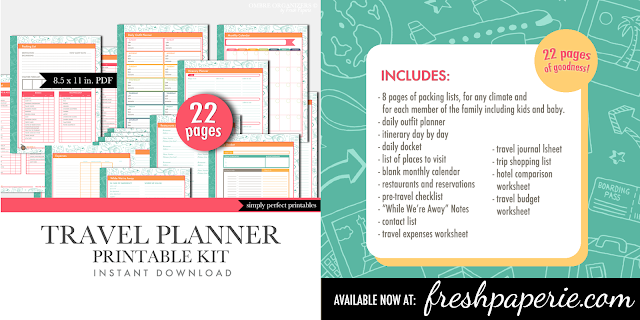 ... Graphic Design: Printable Travel Planner - Vacation Planning Sheets