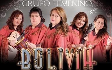 Grupo femenino Bolivia en concierto en Arequipa