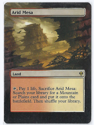 Arid Mesa altered art magic the gathering alter fetchland alter magic the gathering land art mtg alters S'Tung