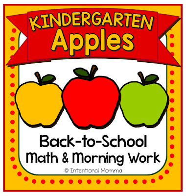 back-to-school TPT Intentional Momma math centers worksheets