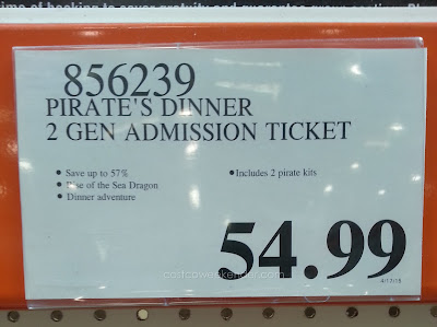 Deal for Pirate's Dinner Adventure General Admission for 2 at Costco
