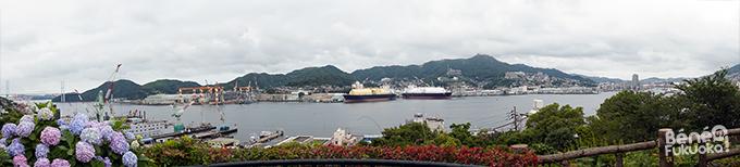 Panorama du port de Nagasaki