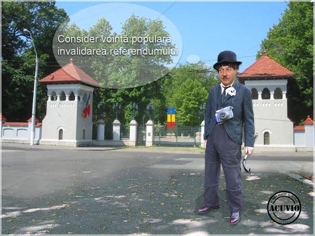 Funny photo Traian Băsescu Comedie la Cotroceni