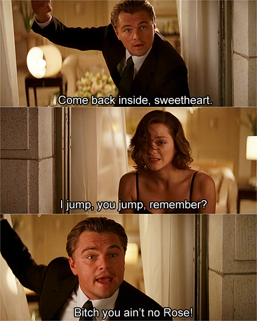 inception titanic funny caption leonardo di caprio, inception titanic ...