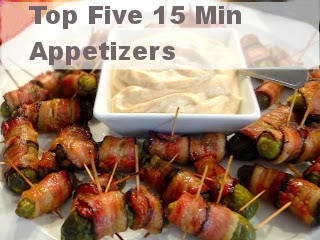 Top Five 15 Min or Less Easy Snacks and Appetizers