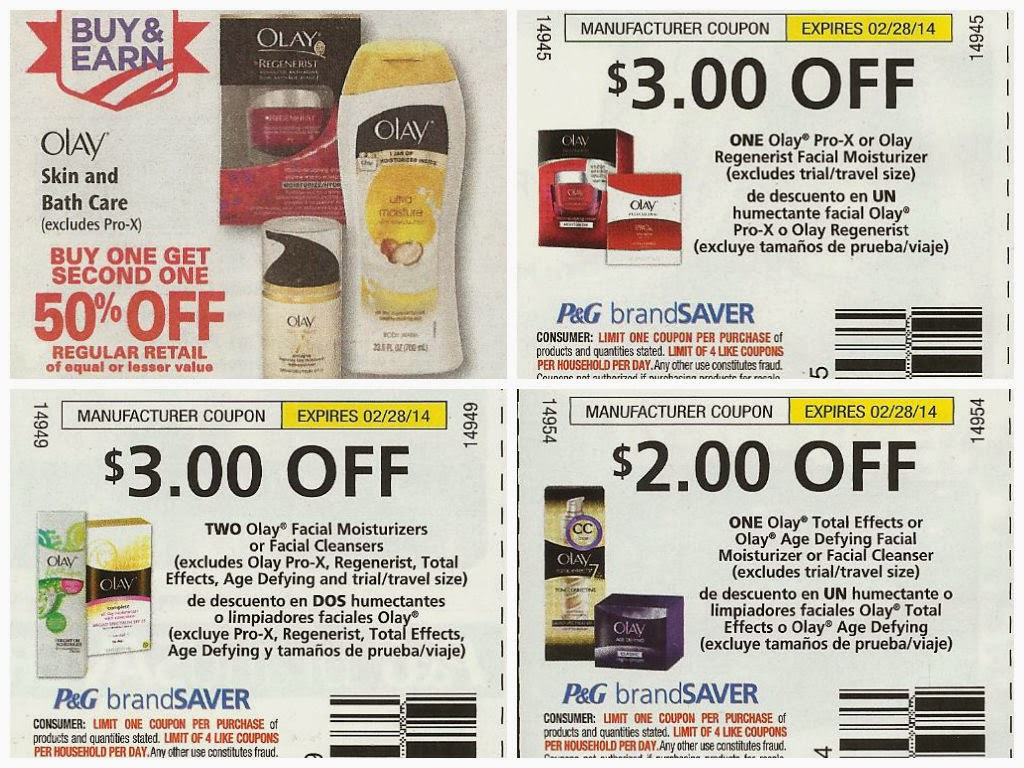 Shopping Tips for Olay: 1. Stock up on Olay bar soap products when Proctor and Gamble releases a $2 off 1 coupon. If you're a fan of Olay facial products, keep your eyes peeled for a $3 off coupon. With mail-in rebates from time to time, spending over $30 can get you $10 back in .