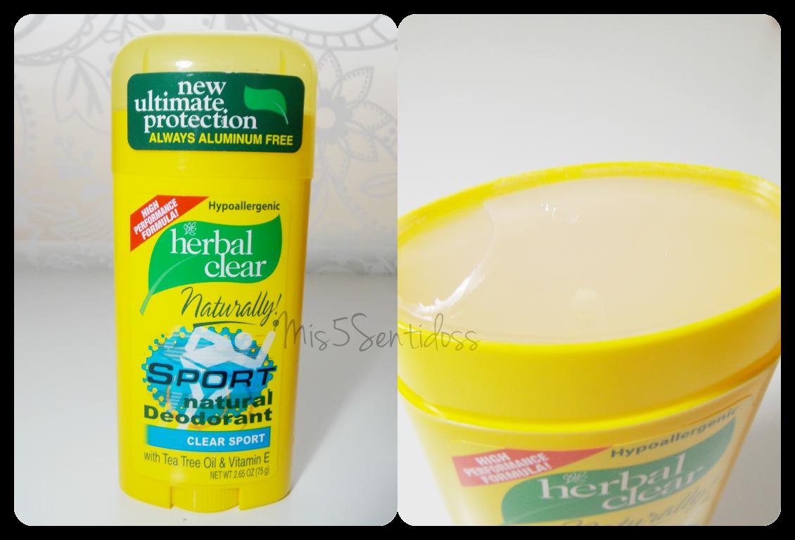 Iherb Desodorante sin aluminio, Herbal Clear sport