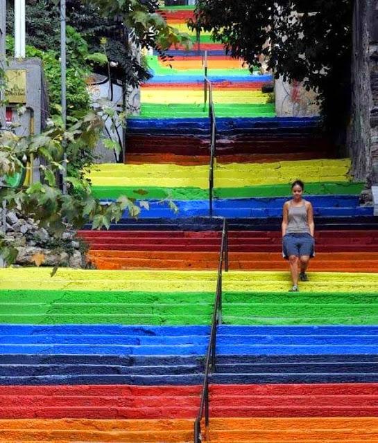 The rainbow steps, Istanbul – Turkey
