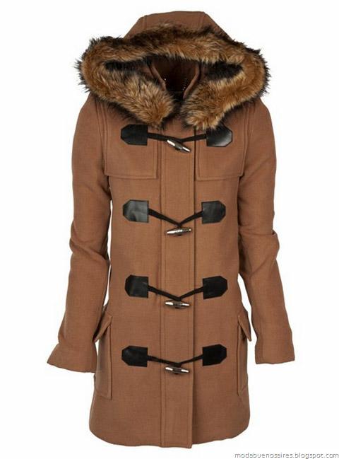 Abrigos invierno 2012. Camperas, sacos, tapados y Montgomerys. Moda invierno 2012, indumentaria femenina Dafiti Argentina.