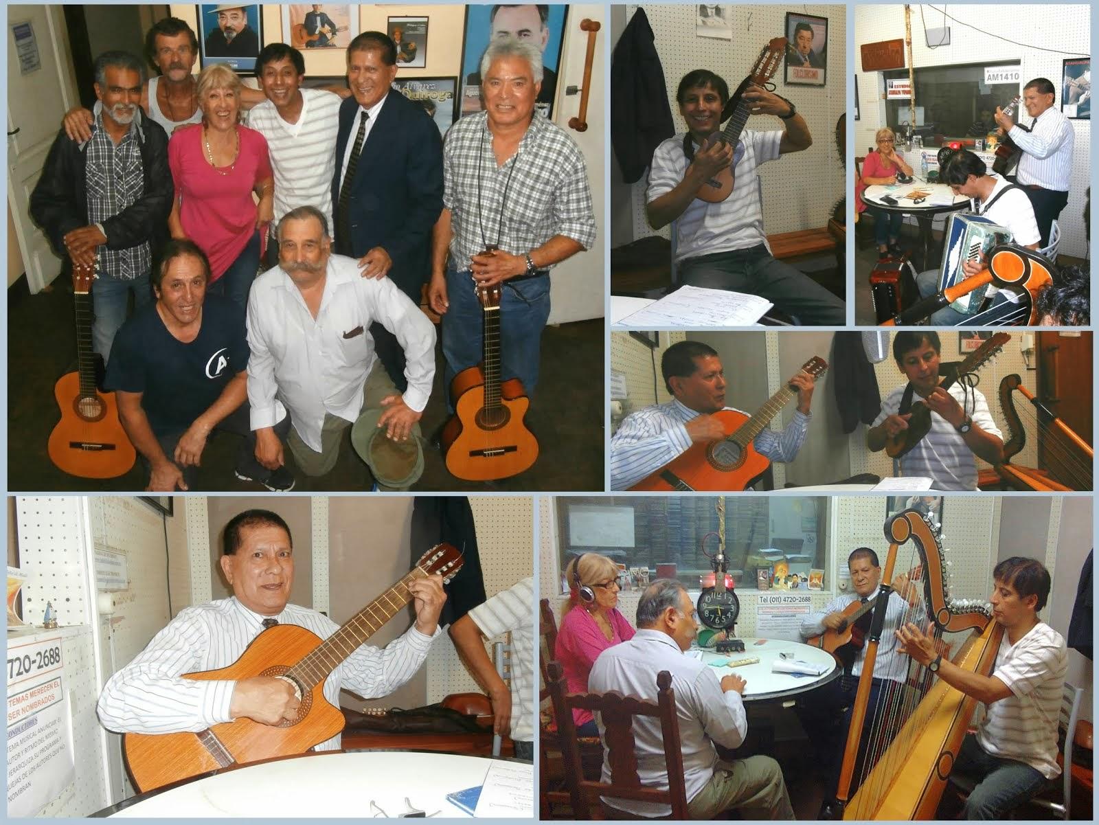Dardo Noguera y Mario Ferreyra visitando a Luisita Guillen