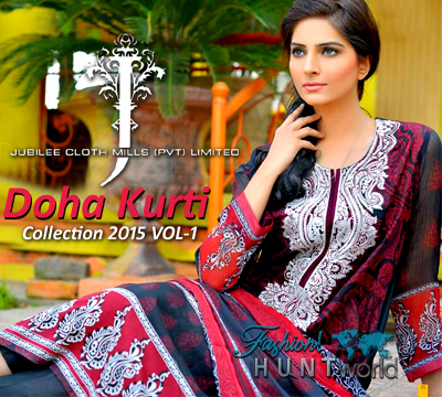 Doha Kurti 2015 Vol-1 By Jubilee Cloth Mills