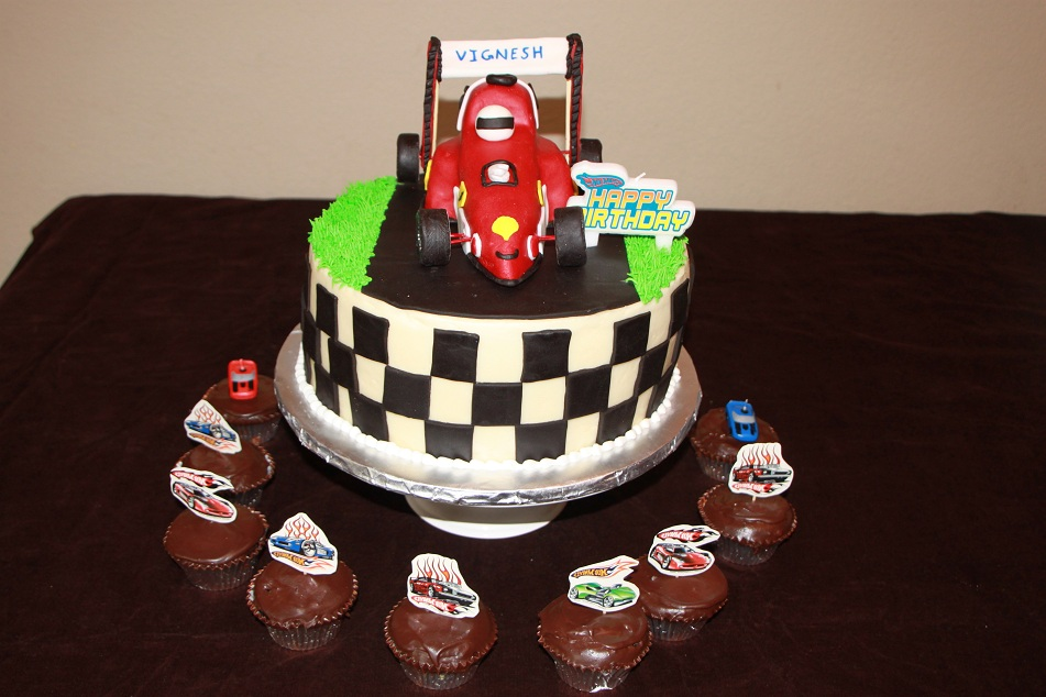 Dhanyas Delights Race Car Cake