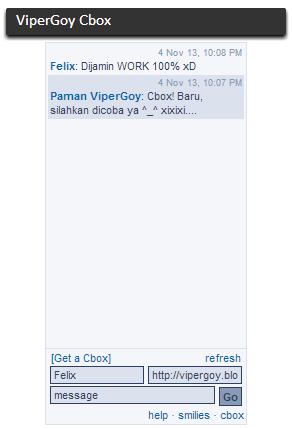 Contoh Tampilan ChatBox ViperGoy Blog
