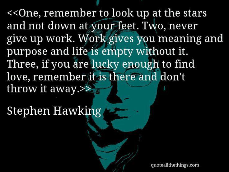 Καλό ταξίδι στα άστρα, σεβαστέ κ. Χώχινγκ!