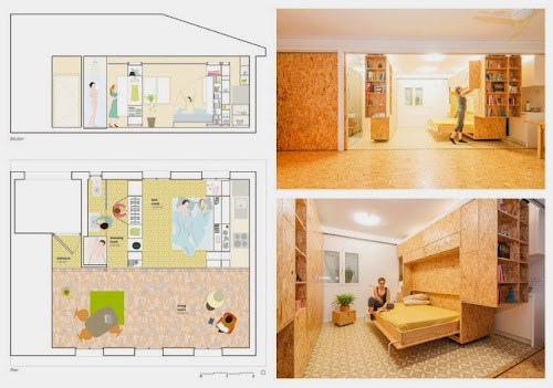 Sliding Chipboard Series on a Small House